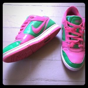 Pink and Green Nike Air Force 1